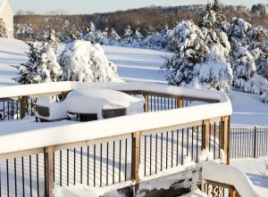 Deck Full of Snow
