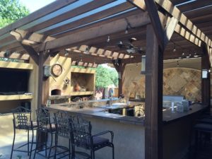 Outdoor Kitchen Considerations - brought to you by Honeysuckle Nursery and Design